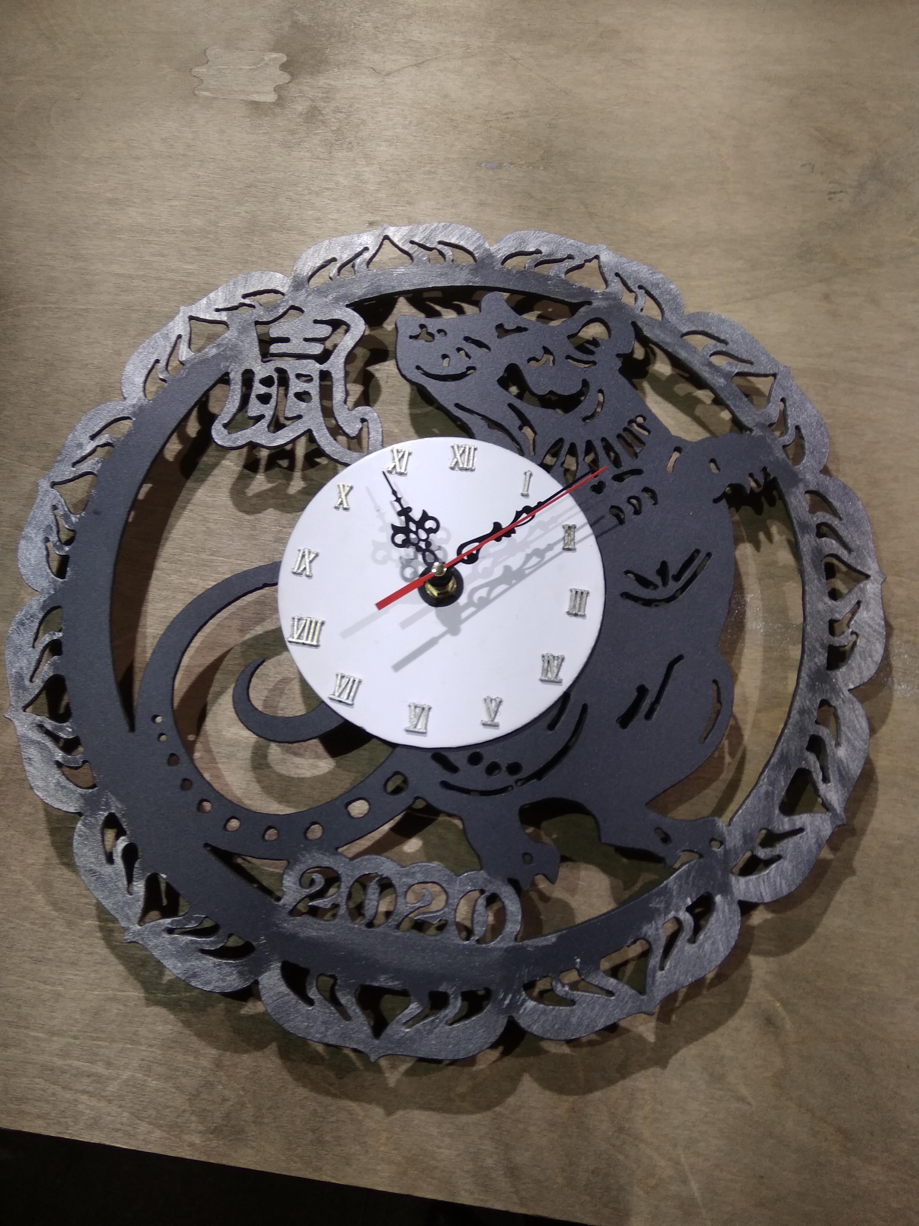 Часы. Плазменная резка