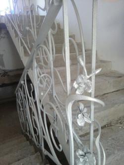 Кованая лестница. Лестничное ограждение