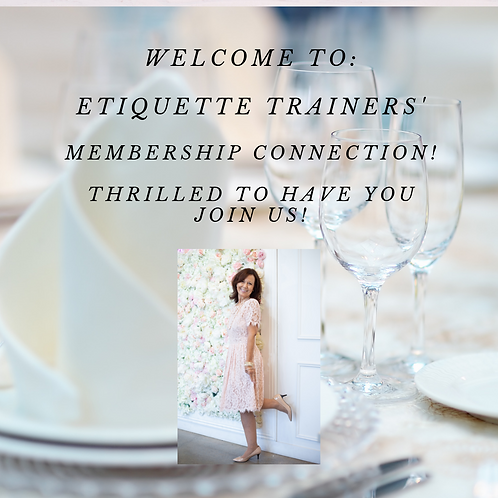 Yearly Membership, Etiquette Trainers Connection