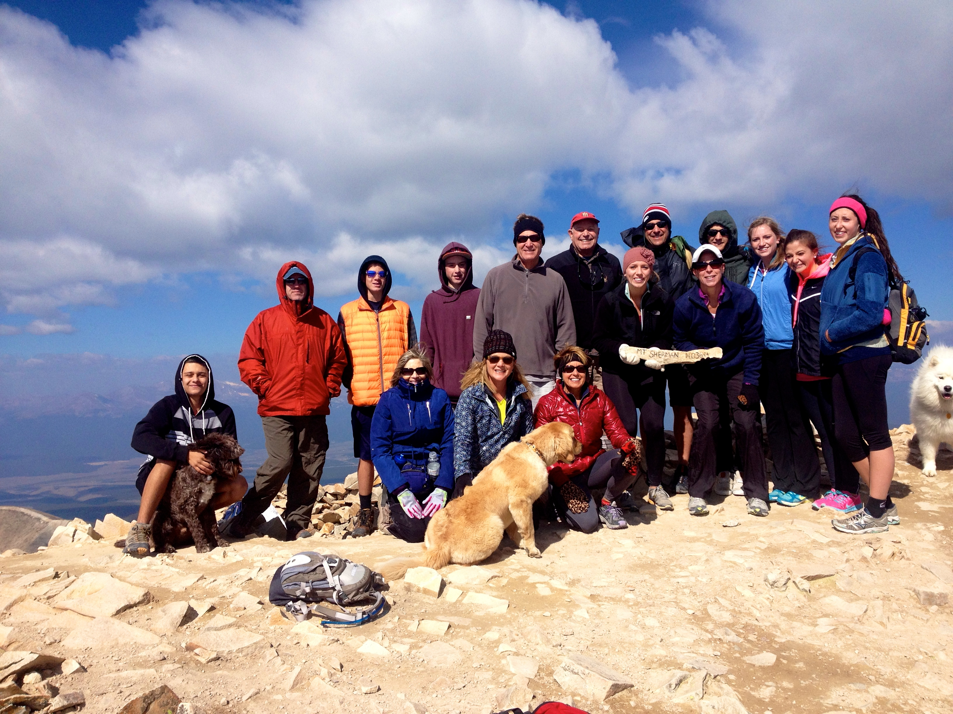 We climbed Mount Sherman 2014!