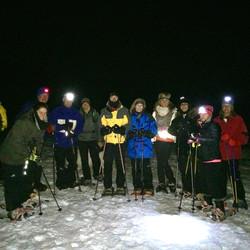 Full moon snowshoe hike