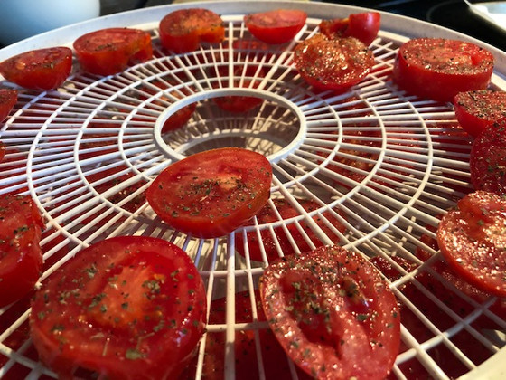 Sun Dried Tomatoes using a Food Dehydrator