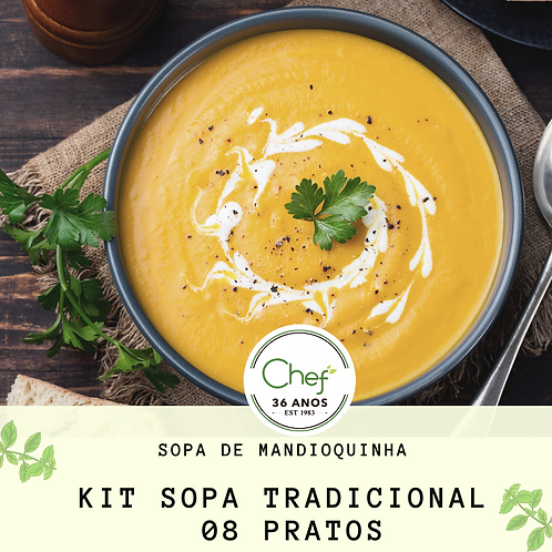 kit Sopas Tradicionais - 8 pratos