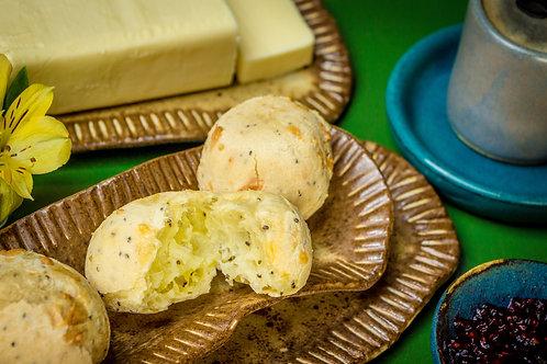 Pão de Queijo com Chia cru sem glúten – Irani Maggiore