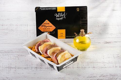 Escalope de Mignon com Brie e espaguete Pupunha WeChef