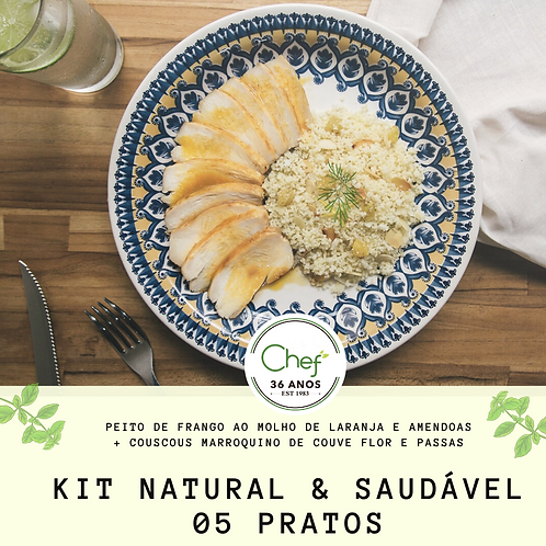 Kit Natural e Saudável - 5 pratos