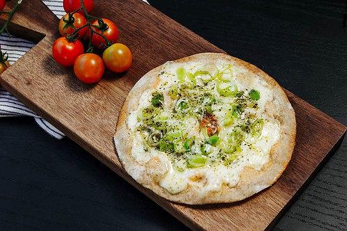 Pizzita de Alho Poró (Pizza de Frigideira)