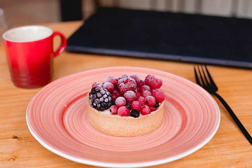 Torta de Baunilha com Berries - Individual