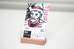 OneHeroinOneCity Letterpress Calendar 2021
