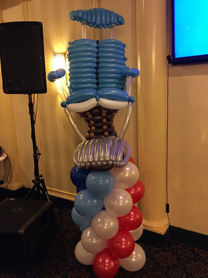 Balloon Barber Chair Column