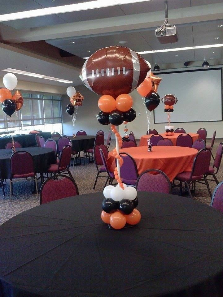 Balloon Sports Centerpieces