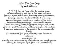 Inspirational poem by Walt Whitman