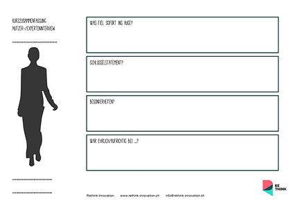 RETHINK GmbH – gratis Template – Interviewzusammenfassung