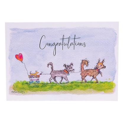 Postcard   Gefeliciteerd geboorte