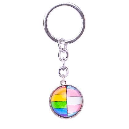 Sleutelhanger   regenboog Trans bol