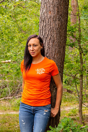 T-Shirt   oranje   Be Yourself