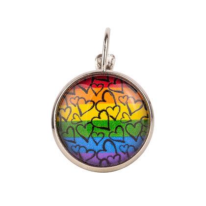 Oorpin | Regenboog hartjes