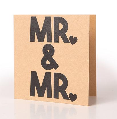Trouwkaart | Mr & Mr