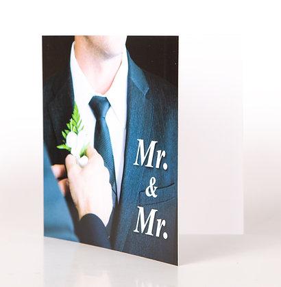 Trouwkaart   Mr & Mr