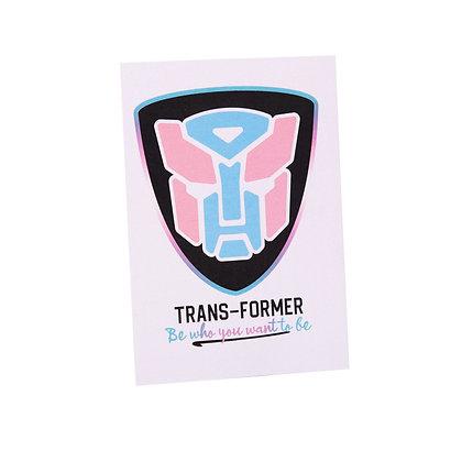 Postcard | Transformer | Deluxe metallic afwerking