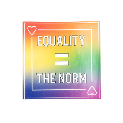 Sticker | Equality is the norm