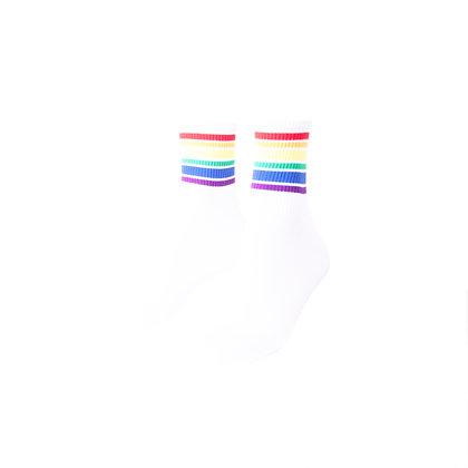 Sokken   wit regenboog