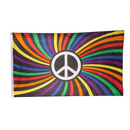 Vlag | Peace - Regenboog 90x150
