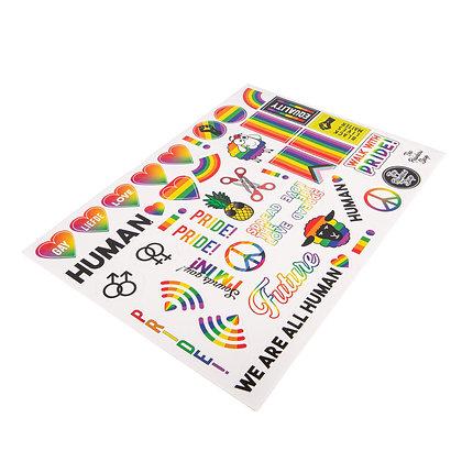 Stickervel | Regenboog A4