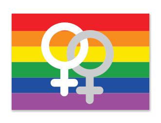 Sticker | Regenboog lesbisch
