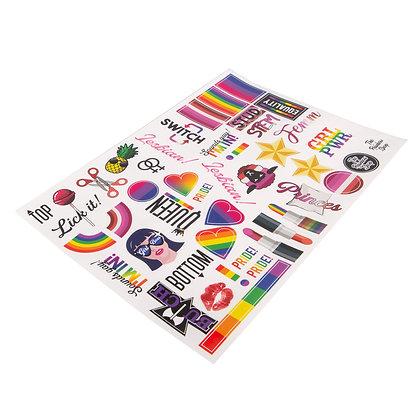 Stickervel | Lesbian editie A4