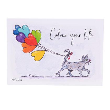 Postcard | Colour your life