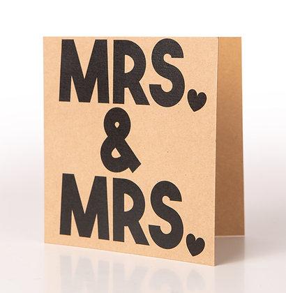Trouwkaart | Mrs & Mrs
