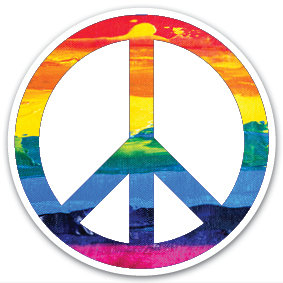 Sticker | Peace Rainbow transparant