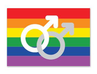Sticker | Regenboog gay