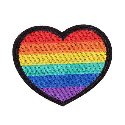 Patch | Regenboog hartje