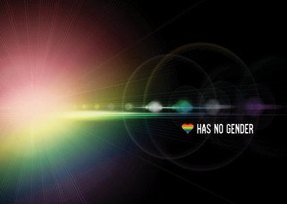 Ansichtkaart | Love has no Gender