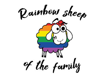 Ansichtkaart   Rainbow Sheep