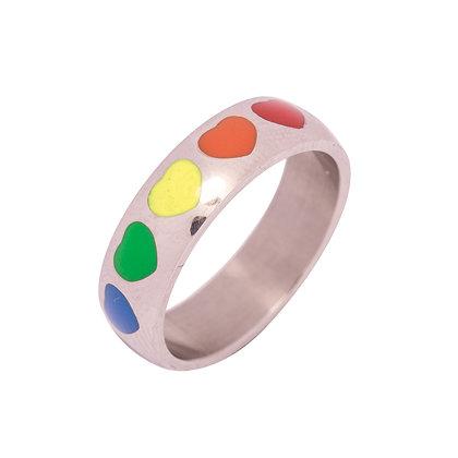 Ring | Regenboog hartjes