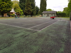 Existing two tone green court