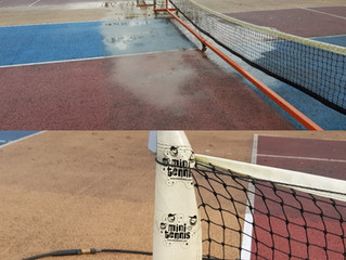Tennis Court Winter Maintenance works continue...