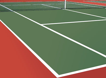 tennis court colouring