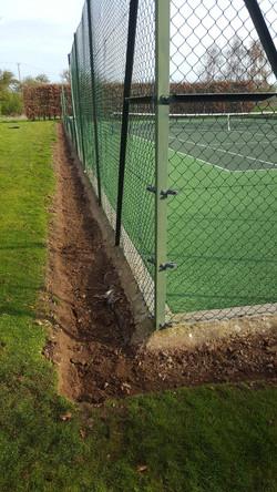 Tennis Court Weed Barrier