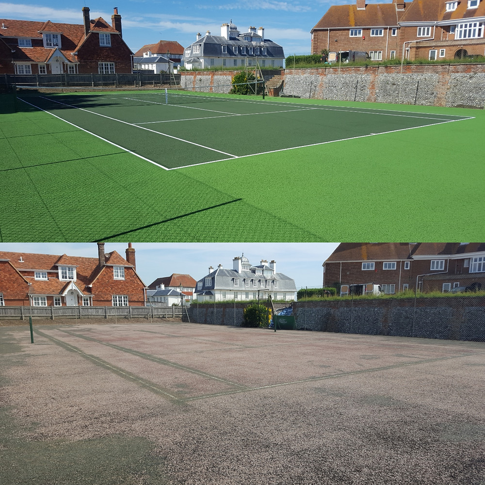 Tennis court refurbishment by Absolute Tennis Courts - The Tennis Court Refurbishment & Maintenance Experts!