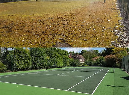 Absolute Tennis Courts spary colour and lining