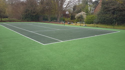Now it looks like a tennis court