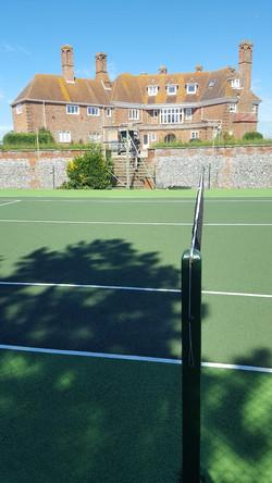 Tennis court refurbished