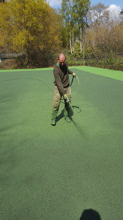 3 coats of specialist sports paint