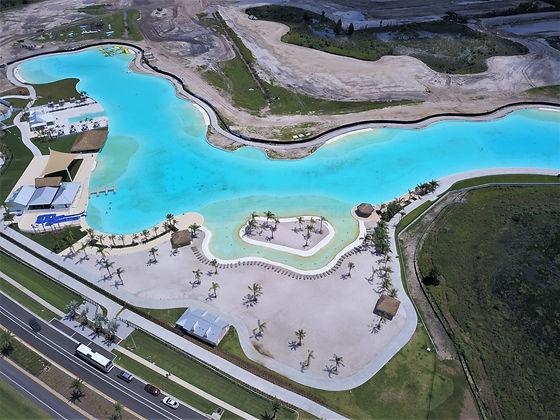 Man made lagoon