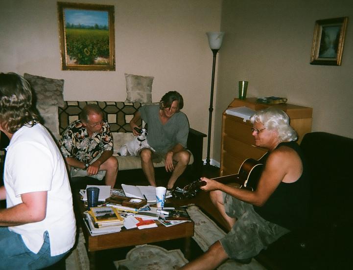 1st rehearsal 2009. James, Michael Curtis, Lonow, Egan