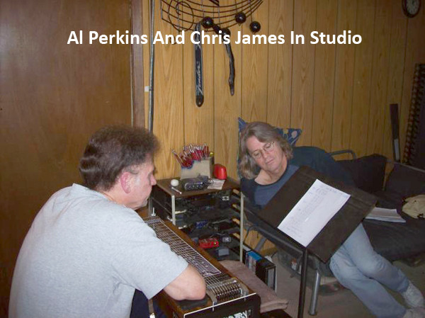 Al Perkins & Chris James in studio